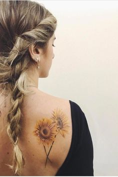 100 Tattoo Designs Women Just Cant Resist TattooBlend Sunflower tattoo Sunflower Tattoo Shoulder, Sunflower Tattoos, Sunflower Tattoo Design, Watercolor Sunflower Tattoo, Sunflower Tattoo Meaning, Colorful Sunflower Tattoo, Sunflower Mandala Tattoo, Watercolor Tattoos, Abstract Watercolor