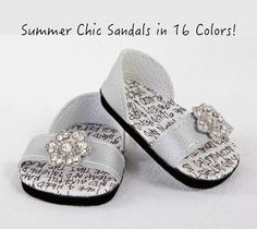 American Girl Doll Sandal Shoes AG Doll Shoes by ModernDollWorld