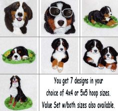 embroidery designs bernese mountain dogs | Awareness Ribbon Flameless Tealight Cover @ Embroidery Garden