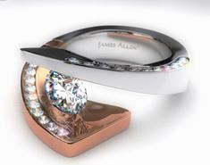 Contemporary tension set Wedding Rings for Women | IinlineaKallahMagaine Complimentary Copy • Now Available By …