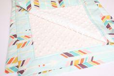 Minky Baby Blanket  Gender Neutral Baby Blanket by modernmadebaby, $52.00
