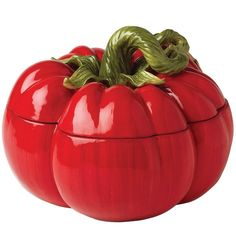 A hand crafted tomato soup tureen, check it out here - http://tureenworld.com/products/tomato-soup-tureen/ #tureen #souptureen