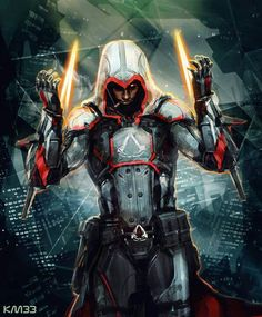 Fan art. Assassins Creed set in the future