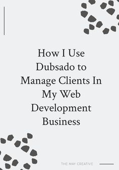 Dubsado is a professional business management system for creative businesses. Using Dubsado has made my business life 20x better and has kept me organized in the important areas of business. Learn how I use Dubsado to stay organized and maintain happy clients. #brandingdesign #branddesigner Creative Business, Business Tips, Online Business, Business Software, Business School, Business Quotes, Business Management, Management Tips, Project Management