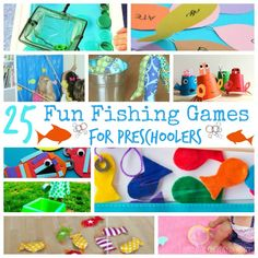 25 Fun Fishing Games For Preschoolers Featured Outside Games For Kids, Fishing Games For Kids, Games For Toddlers, Sport Themed Crafts, Rainbow Fish Activities, Fishing Kit, Fly Fishing, Fishing Basics, Best Toddler Gifts