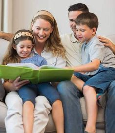 Simple reading of the whole family can be a great way to start conversations.