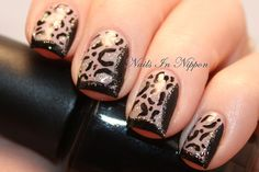 Nails In Nippon: Funky French Leopard