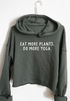 Eat More Plants, Do more Yoga - Athletic Cropped Hoodie – Wholesome Culture