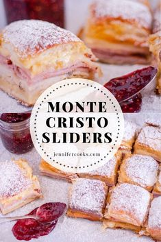 Try these quick and easy Monte Cristo Sliders - An appetizer-friendly take on the battered and fried turkey, ham and cheese sandwich.