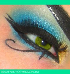 Egyptian Eye Make-Up... @Jamie Byam You can do this if you come to work as cleopatra