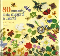 80 nuostabiu ideju megzti ir nerti.  #crochet leaves, flowers #book free reading