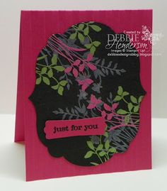 Embossing multiple colors, Stampin' Up! products by Debbie Henderson, Debbie's Designs.