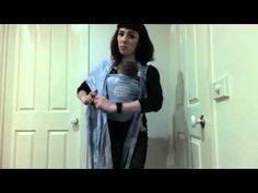 how to FWCC (front wrap cross carry) with poppins finish using a size 6 woven wrap - YouTube