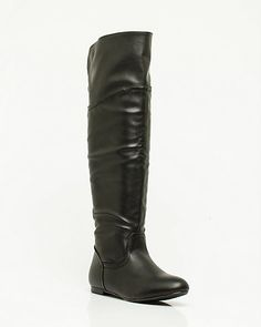 Leather-like Over-the-Knee Boot  Size6.