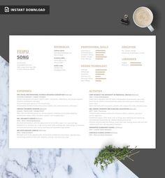 Bundle: Resume/CV, Cover Letter, Portfolio Template | Instant Download (Formal…