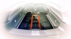 Volvo Concept Estate Interior Design Sketch