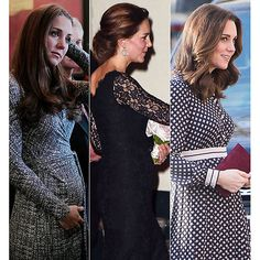 A picture of each pregnancy for Kate Middleton