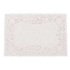 Fox Run 10-Inch by 15-Inch Rectangle Doily, 12-Pack
