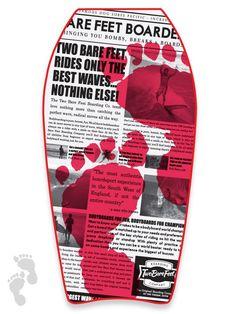 "41"" red headlines bodyboard featuring a newspaper print"