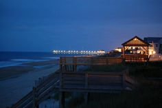 From our deck to the south, with Jennette's pier in the distance. Best of OBX. Tabitha Luttrell.