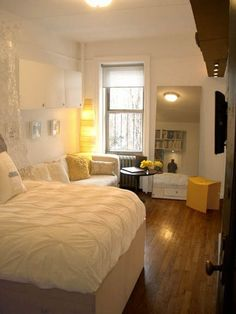 Small Studio Apartment Empty 17 ideas for decorating small apartments & tiny spaces | tiny