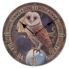 Wall Clock - Lisa Parker Picture Clock - Barn Owl Image
