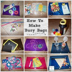 How to make busy bags, simple, frugal items that will keep your little one learning while playing all at the same time! http://mamato5blessings.com/2013/08/how-to-make-busy-bags-for-little-ones-learn-link-w-linky/