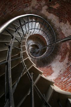 Staircase of Cape Redland lighthouse
