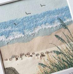 backgrounds quilting ideas 2019 art for 22 22 Ideas art quilting ideas backgrounds for can find Quilting and more on our website Art Fibres Textiles, Textile Fiber Art, Textile Artists, Fiber Art Quilts, Embroidery Designs, Embroidery Art, Landscape Art Quilts, Landscapes, Beach Quilt
