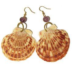seashell crafts | Scallop - shell earrings | Seashell Crafts