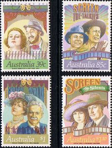 Australia 1989 Australian Stage and Screen Personalities Set Fine Mint SG 1208/11 Scott 1142/5 Other Australian Stamps HERE