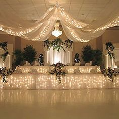Starlight Lighting Kit – 6 strands of Lights Recommended for 12 Panel Ceiling Draping Kit - DIY Event Drapes And Blinds, Types Of Curtains, Drapes Curtains, Window Drapes, Event Decor Direct, Inexpensive Wedding Venues, Wedding Affordable, Beautiful Curtains, Custom Drapes