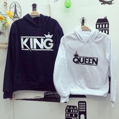 Couple Shirt Design, King Queen Shirts, Couple Tees, Matching Couple Outfits, Valentines Day Shirts, Love Shirt, T Shirts With Sayings, Hoodies, Sweatshirts