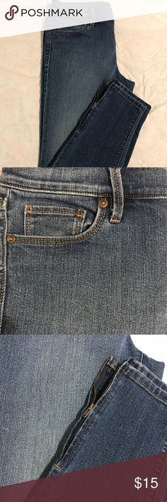 Loft Zipper Ankle Jeans Jeans from the LOFT Have zippers on the bottom of the jeans by the ankle. Jeans are ankle length LOFT Jeans Ankle & Cropped