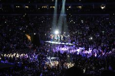 "February 23, 2013    One Direction member Harry Styles, Liam Payne, Zayn Malik, Niall Horan and Louis Tomlinson start their ""Take Me Home"" tour in London at the O2 Arena."