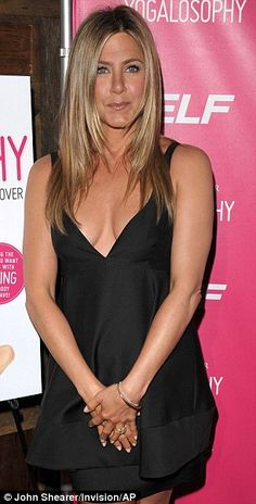 'I was chubbier': Jennifer Aniston has admitted that her body was a lot curvier 22 years ago compared to what it is like today. On the left she is seen at a book launch on Tuesday night and right in 1990 Jeniffer Aniston, Jennifer Aniston Pictures, Jennifer Aniston Style, Nancy Dow, Jennifer Connelly, White Satin Blouse, Joanna Gaines Style, Lbd, World Most Beautiful Woman
