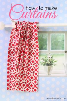 diy curtains Here I will show you the easiest way how to make curtains using the rod pocket method. Even beginners will be able to sew curtains with this easy method. Small Bathroom Window, Small Window Curtains, Bathroom Window Curtains, Kitchen Curtains, Outdoor Curtains, Camper Curtains, No Sew Curtains, How To Make Curtains, Gypsy Curtains