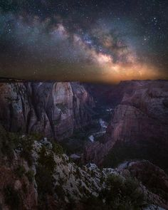 The Milky Way over Zion National Park
