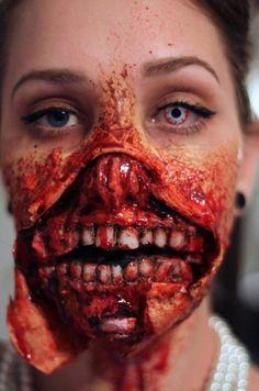 Scary Halloween makeup..