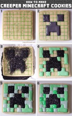 How to Make Creeper Minecraft Cookies