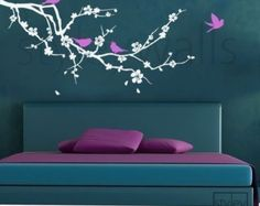 Cherry Blossom Branch Wall Decal Blossoming Almond por styleywalls