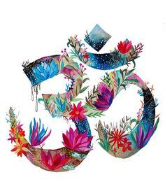 Una hermosa floración om, el símbolo perfecto miedo a utilizar para la decoración de su hogar, estudio o yoga espacio de práctica. Este es un diseño original con derechos de autor del artista, hecho a mano con acuarela y acrílico. Envía a usted con seguridad y con seguridad en 3-5 días laborales. ¡Gracias por mirar