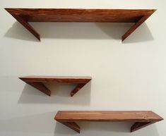 Pine Angle Shelves Set of 3 by WoodworkByDrew on Etsy