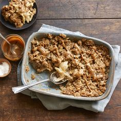 Bring an old favorite to new heights of flavor with caramel sauce and a garnish of smoked salt. A scoop of vanilla ice cream takes this modern apple crisp over the top.- Visit PaneraBread.com for more inspiration.
