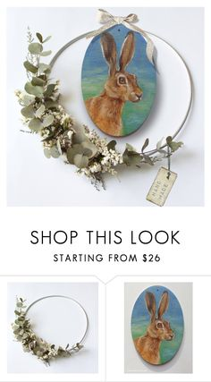 """Spring home decor"" by canisartstudio ❤ liked on Polyvore featuring interior, interiors, interior design, home, home decor, interior decorating, Spring, Bunny, Rabbit and homedecor"