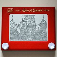 Fun news time! A dream of mine recently came true; I currently have this Etch A Sketch of St. Basil's Cathedral on display at @kohlchildrensmuseum! I've always dreamed of one day seeing my art hanging in a museum. It is being showcased along with a slideshow of my work as part of their Toys: The Inside Story exhibit that runs until September 4th.  Catch me live on WGN Morning News on Tuesday to hear me gush about the coolest toy in the world!  #etchasketch #etchasketchart…