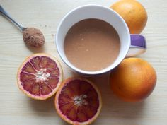 Blood Orange Hot Chocolate Ingredients 1 cup coconut milk warmed gently on the stove 1 teasp coconut oil 1 tablespoon Cacao powder 1 tablespoon raw honey 1 blood orange (half peeled and half with peel, but you may prefer tot…