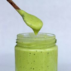 You'll Want to Pour This Avocado Dressing Over Every Salad You Eat — 1/2 ripe avocado 1 tablespoon Dijon mustard 1 cup water Handful of coriander (cilantro) leaves 1 tablespoon olive oil Juice of half a lime 1/2 teaspoon cayenne pepper Salt and pepper to taste