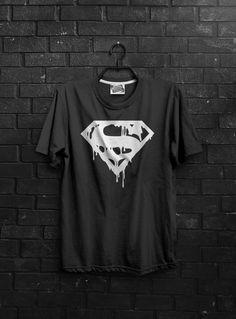 Melting Superman Tshirt | Cool Design Tshirt | tee funny cool wear dc comics tshirt superman melt melting kryptonite krypton short sleeve by BrutalVisual