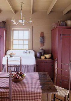 Cute little cottage kitchen.